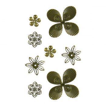 L'aquarelle Designs Filigree Brass Ornaments (10pcs)