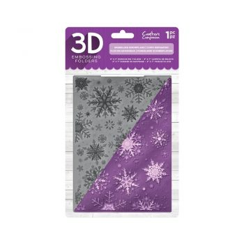 Crafter's Companion 3D Embossing Folder – Sparkling Snowflake