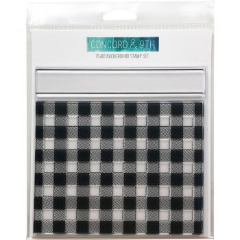 Concord & 9th Clear Stamps 6″x6″ Plaid